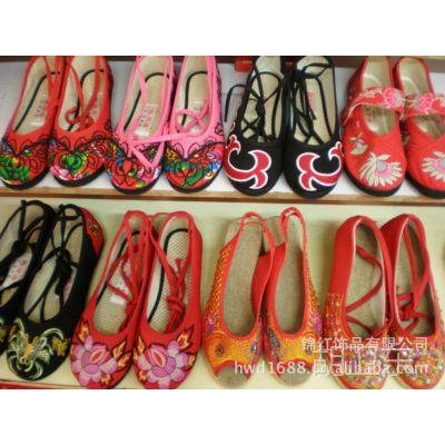特色民俗半手工刺绣休闲女鞋系列加盟招商 女鞋代理