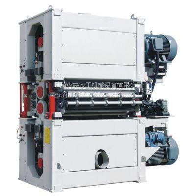 江苏双面重型宽带砂光机、木工高效率重型宽带砂、优质双面砂光机价格、无锡木工机械厂家