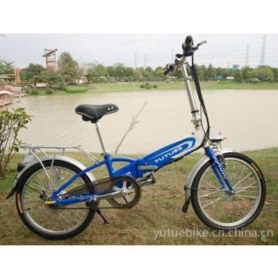 供应愉途电动车祥云16寸铝合金车架折叠锂电电动车电动自行车