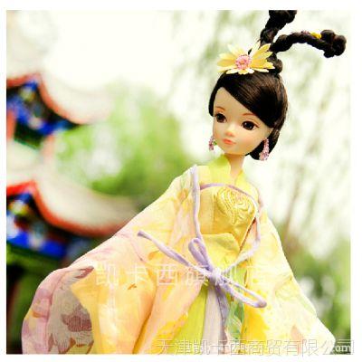 正品可儿娃娃手工古装衣服关节体高端芭比 能挂墙带收藏证-咏菊