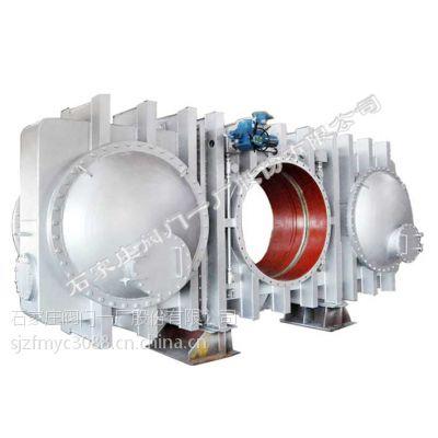 供应石阀一厂环球牌电动全封闭式插板阀 (HQYZ943X-2.5 DN200-4000)(眼镜阀)