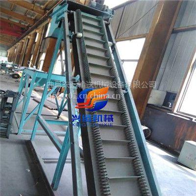 双向液压升降袋装化肥传送机,圆管装卸车输送机-槽钢升降式皮带机