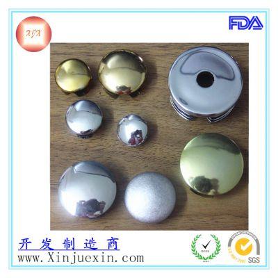 【免费样品】供应银色电镀圆形管塞 看了就会有您满意的圆形管塞