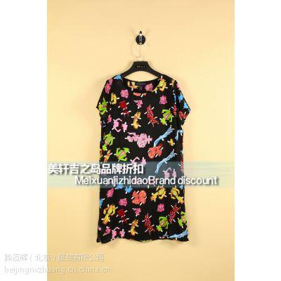 真丝连衣裙 品牌女装 专柜同款 16年夏季时尚女装 尾单批发