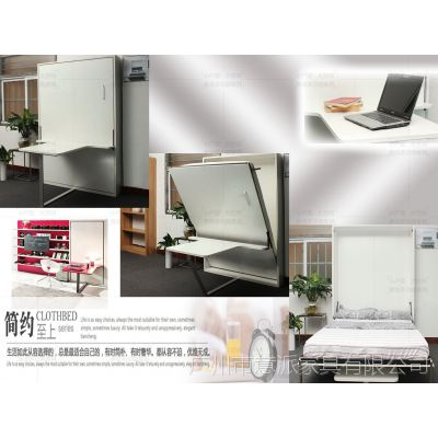 壁床翻板床wallbed折叠床隐形床小户型家具经济适用房壁柜床五金