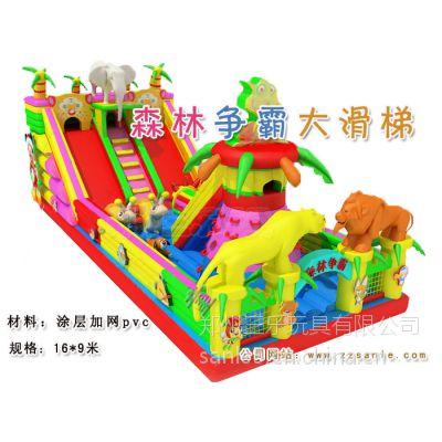 湖南郴州充气大滑梯熊大熊出没加厚pvc布料小型充气城堡