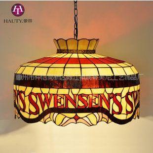 供应20寸 彩色玻璃灯 SWENSENS店面装饰灯具 餐厅咖啡厅吊灯 可订做