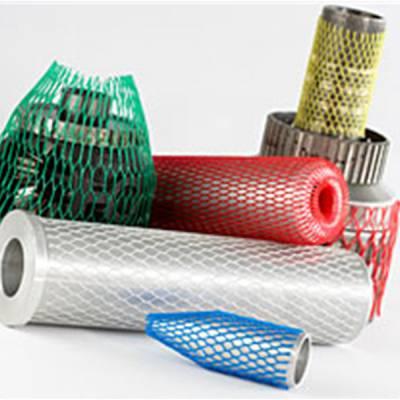 供应PE塑料0.8-50cm保护网套包装五金器件和鲜花