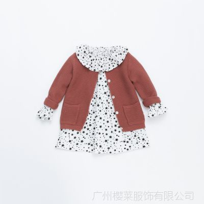2015春装儿童韩版毛衣开衫 女童全棉百搭长袖毛衫 中小童装  3500