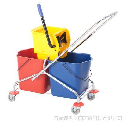 60L双桶榨水车-专业清洁工具 清洁车 清洁手推车榨水车