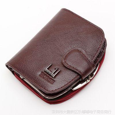 欧美风范真皮女包新款外贸短款女士手拿包钱包速卖通牛皮包包批发