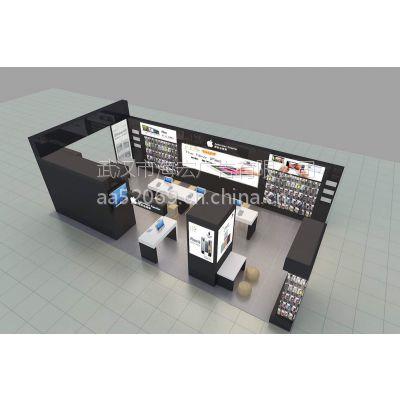 武汉手机专卖店设计布局,手机玻璃烤漆柜台订做,免费设计海宏为您服务
