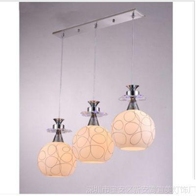 供应现代时尚吊灯创意餐厅灯玻璃卧室阳台过道灯客厅饭桌餐桌茶室吊灯