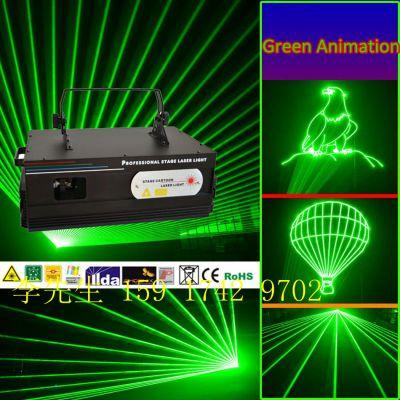 供应大功率单绿动画激光灯 1W-10W单绿动画激光灯 大型舞台演出灯光 酒吧灯光