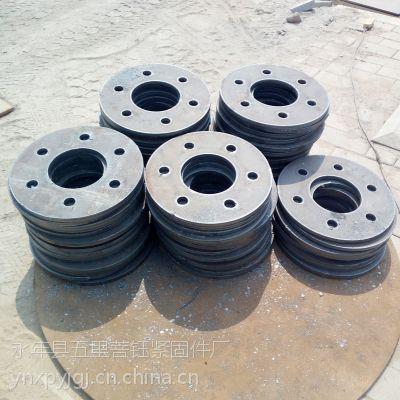 法兰盘定位板 地脚螺栓 单双头地脚螺栓 预埋件方板 定位钢板