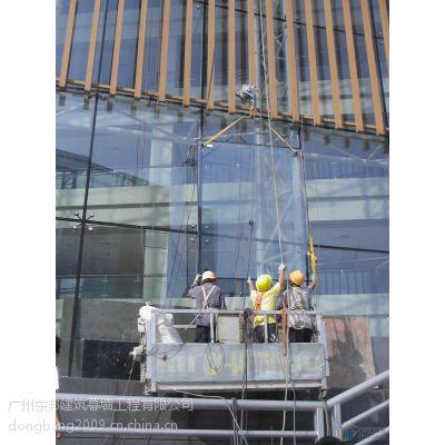 广州深圳佛山珠海玻璃幕墙高空外墙维修更换改窗打胶、吊篮租赁出租东邦建筑幕墙公司