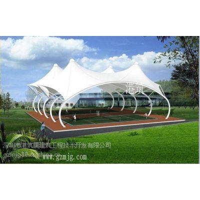 供应充气膜羽毛球场-膜结构公司港筑国际
