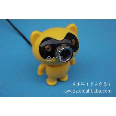 供应【小老虎USB高速免驱电脑摄像头】宇宙通卡通小黄猫1000万像素