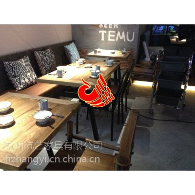 厂家促销连锁餐厅特色餐桌椅,铁艺餐桌椅,酒店宴会大厅桌椅生产设计