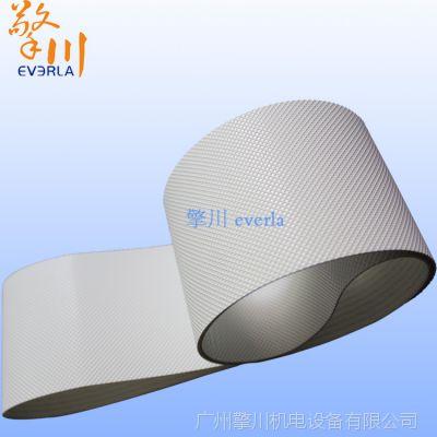擎川everla供应白色钻石纹输送带PU聚氨酯传送带耐高温耐磨防滑食品级工业皮带定制加工