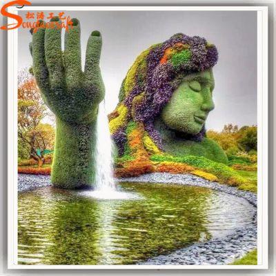 仿真绿植雕塑 园林景观植物造型设计 专业厂家制作pu绿雕定制