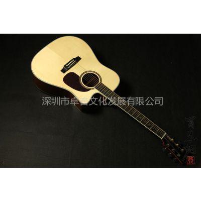 供应云杉单板 民谣吉他 缺角面单木吉他