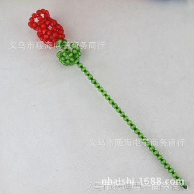 情人节玫瑰仿玫瑰手工串珠花艺制品常开珍藏鲜花玫瑰生日鲜花串珠