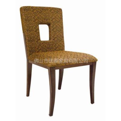 供应酒店仿木金属餐厅椅子供应商 XA-018