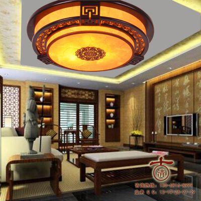 供应特价现代简约卧室灯中式古典新款木艺客厅灯具餐厅灯吸顶灯书房灯饰7001