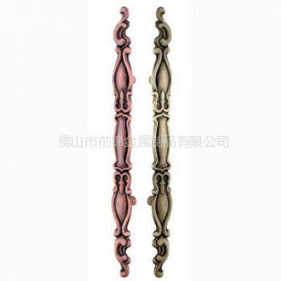 供应不锈钢红古铜拉手 西宁铜门专用古铜拉手
