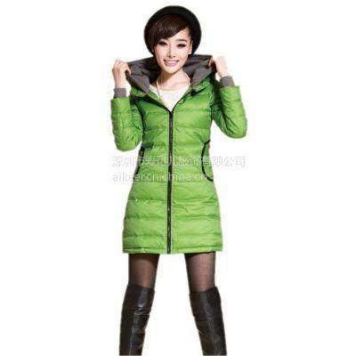 供应品牌库存女装尾货批发冬装纯羽绒服批发女式羽绒服份货低价