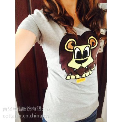 女士短袖批发,大黄鸭(pancoat)短袖,修身显瘦,品牌T恤批发