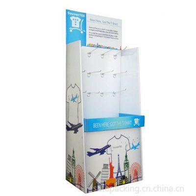 供应深圳华信定做超市卖场挂钩式悬挂式多层纸展示架