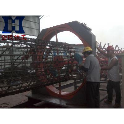 中铁单位施工钢筋笼加工神器-金陵铁工系列钢筋笼滚焊机