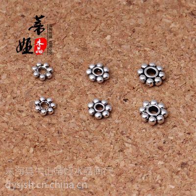 供应藏银隔片 散珠隔珠垫片 DIY佛珠配件批发 手工串珠雪花片材料批发