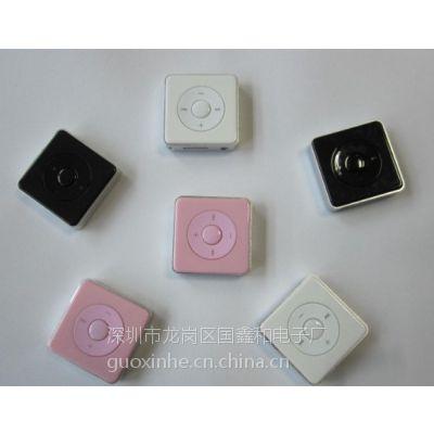 厂家新款已上市塑胶插卡夹子MP3 塑胶夹子 学生礼品无屏MP3