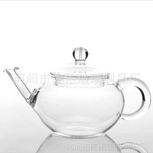 耐热玻璃清新花草茶壶 手工迷你耐高温玻璃泡茶壶独享壶 250ml