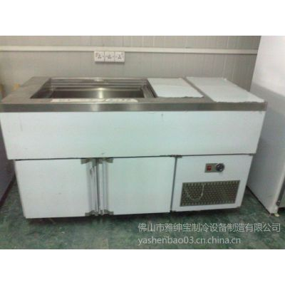 供应供应冷热汤池/保鲜柜/不锈钢柜/食品展示柜/冷汤池/满记甜品设备
