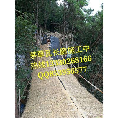古廊价格|重庆茅草瓦长廊厂家|景观长廊搭建施工|防腐木长廊