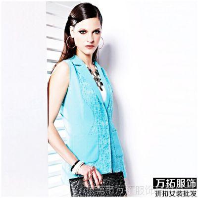 安缇娜2014夏季品牌女装欧美风格提花无袖连衣裙特价组合走份批发