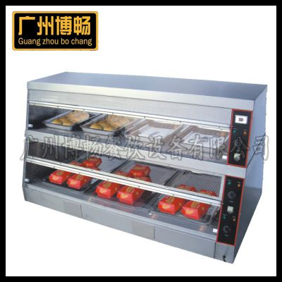 DH-6P双层陈列保温柜 西式快餐设备超市设备 西厨设备 汉堡包专用