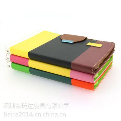 供应新款三星tab3 8.0寸果色拼款平板皮套