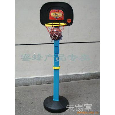 批发供应外贸儿童塑料体育健身玩具单臂式升降篮球架投篮架90310