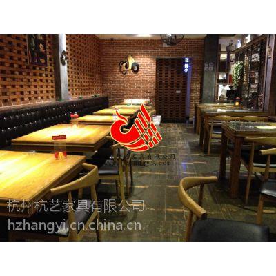 供应杭州餐饮家具直销点 餐饮店配套餐椅餐桌生产 餐厅桌椅订做***低报价