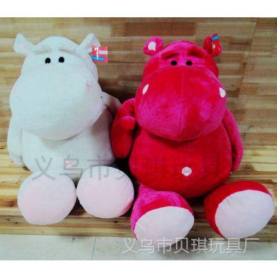 超萌可爱河马毛绒公仔玩具玩偶布娃娃情侣生日礼物 儿童卡通玩具