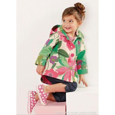 2015春秋季爆款外贸原单韩版时尚新款女童风衣夹克连帽外套批发