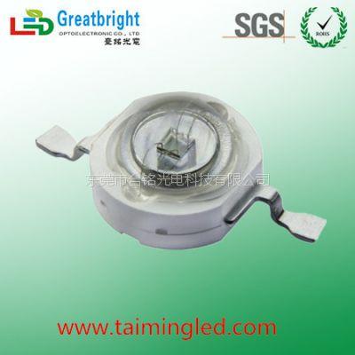 台湾台铭3w大功率UV紫外365-370nm UV固化紫外led灯珠