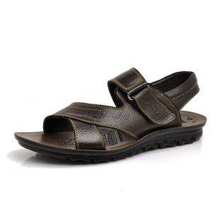 供应夏季新款 沙滩鞋 真皮凉鞋批发 地摊供货