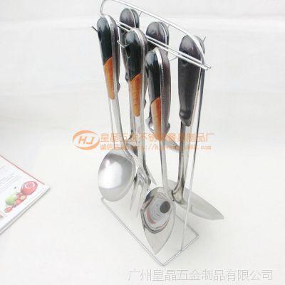 A款厨房用具 不锈钢厨具七件套 套装锅铲 厨具套装 韩国厨具批发