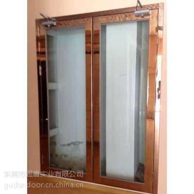 湛江市哪里甲级单开不锈钢玻璃防火门比较便宜?找固盾玻璃防火门厂超值热销